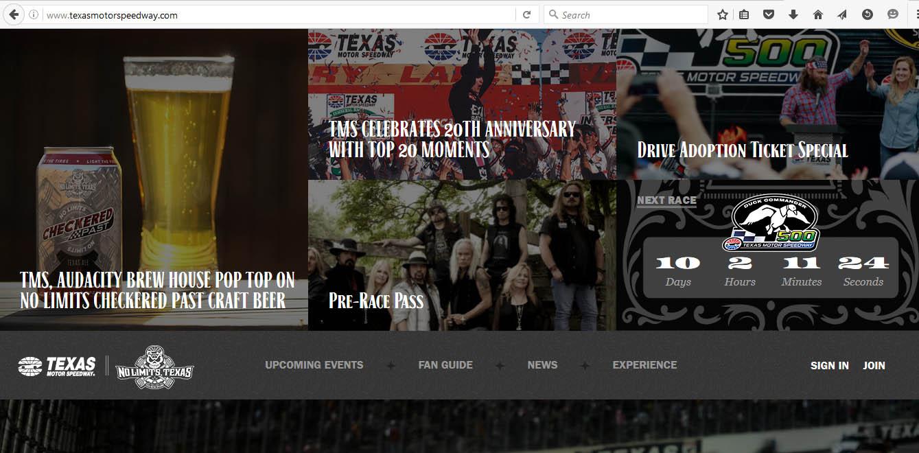 Design Ideas from Texas Motor Speedway