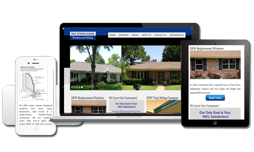 First Exterior Designs New Website