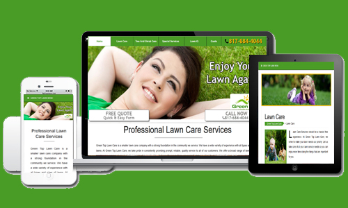 Green Top Lawn Care's New Website