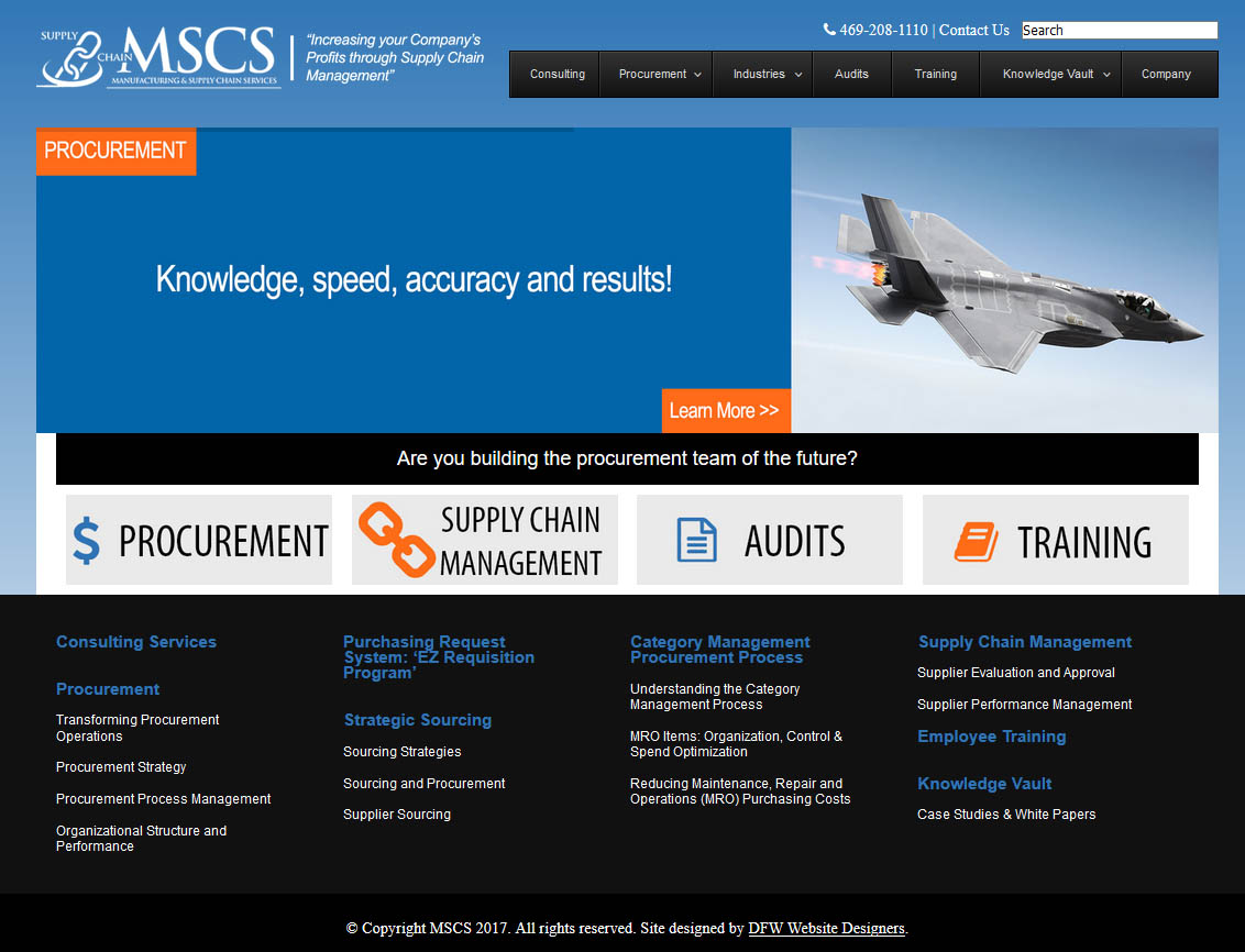 DFW Website Designers Developed MSCS' Website