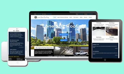 Lone Star Roofing Mobile Responsive Example https://DFWWebsiteDesigners.com