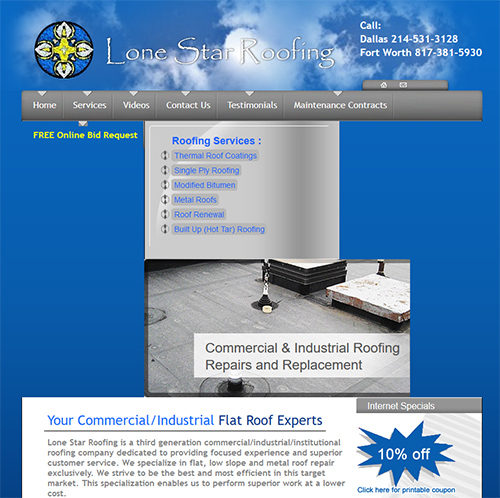 Example of a Previous Austin Web Design