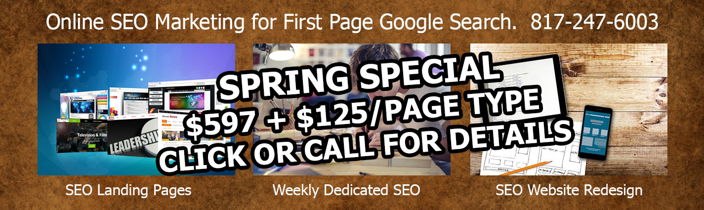Click for Our Spring 2019 Special